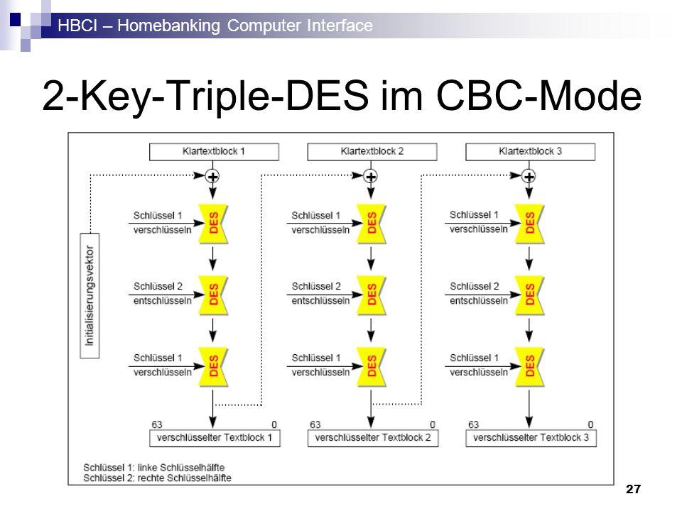 2-Key-Triple-DES im CBC-Mode
