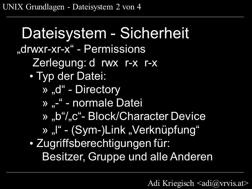 Dateisystem - Sicherheit