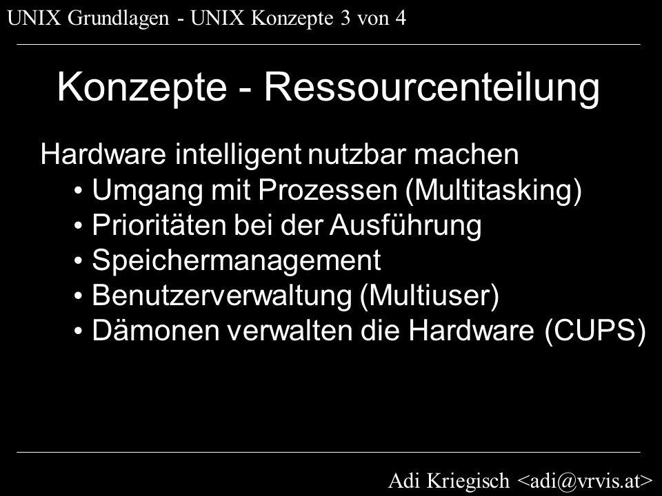 Konzepte - Ressourcenteilung