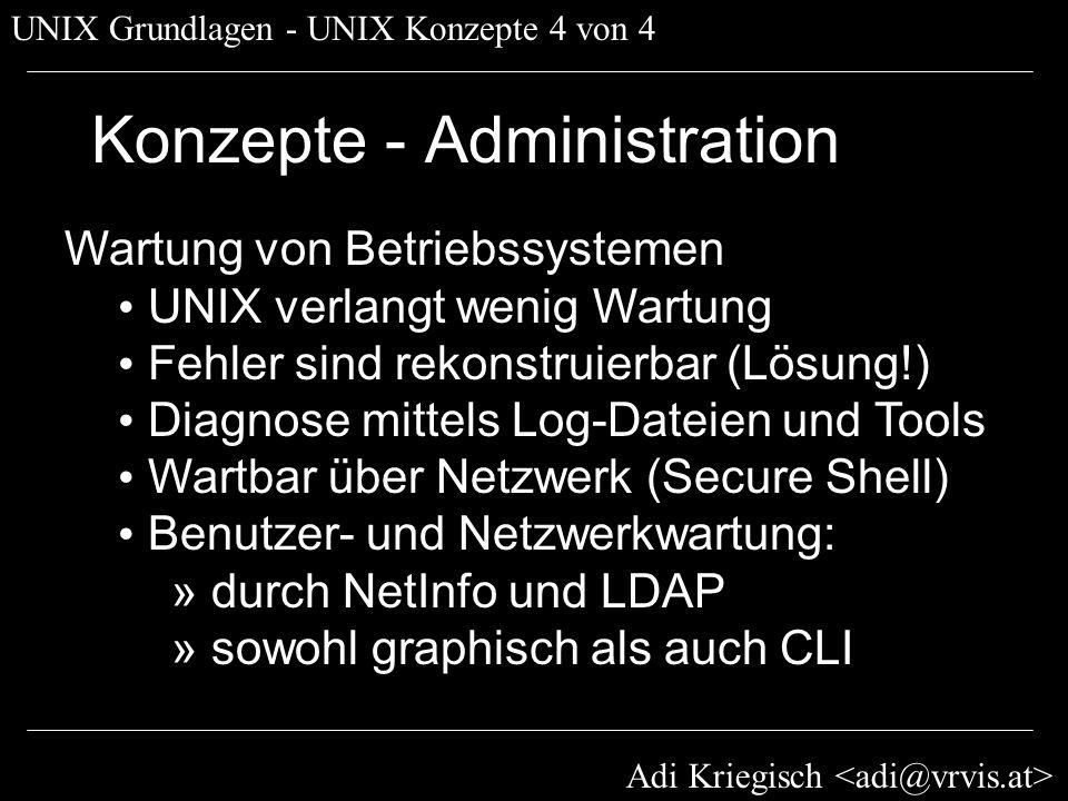 Konzepte - Administration