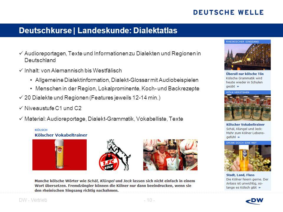 Deutschkurse | Landeskunde: Dialektatlas