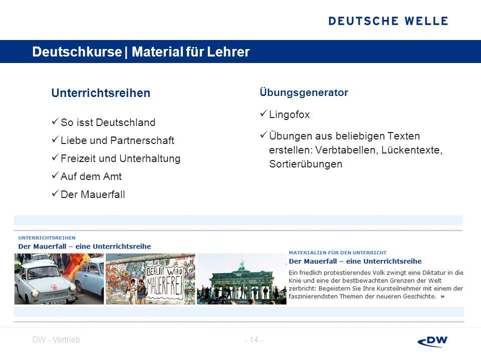 Deutschkurse | Material für Lehrer