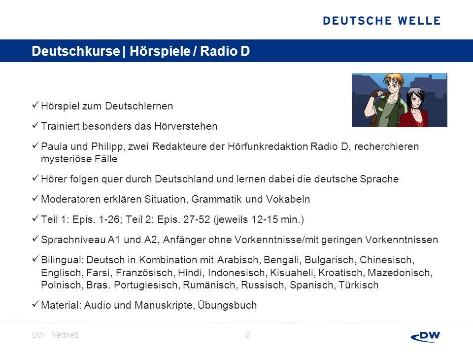Deutschkurse | Hörspiele / Radio D