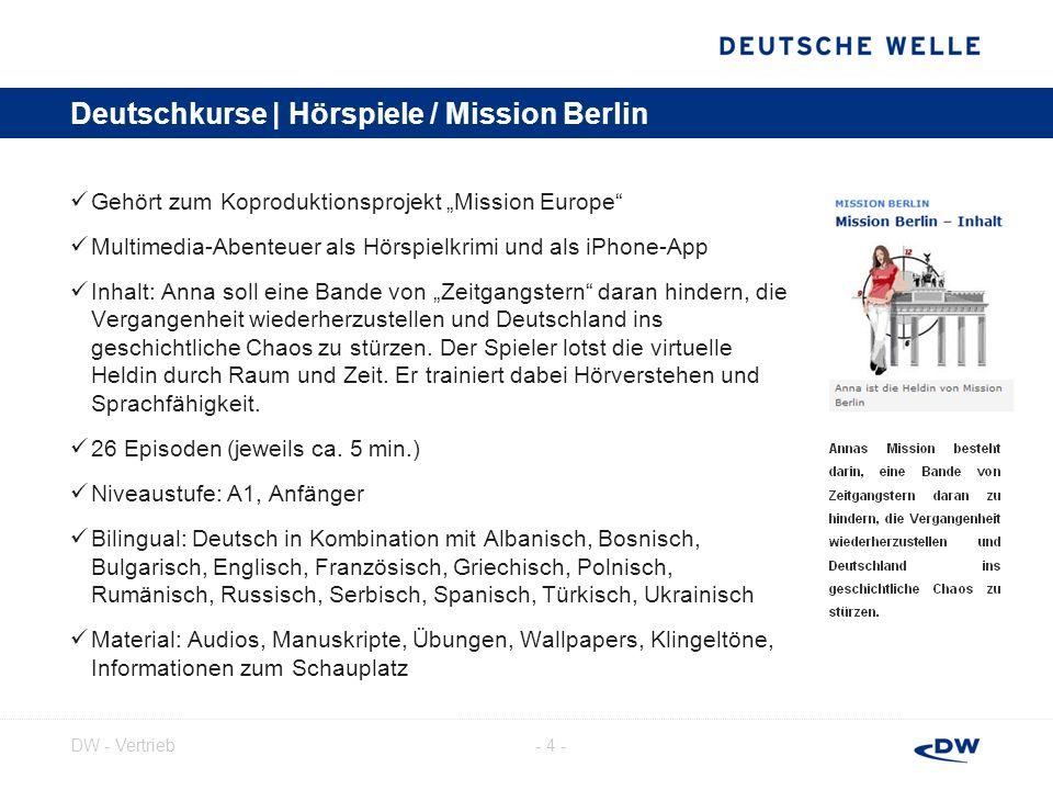 Deutschkurse | Hörspiele / Mission Berlin