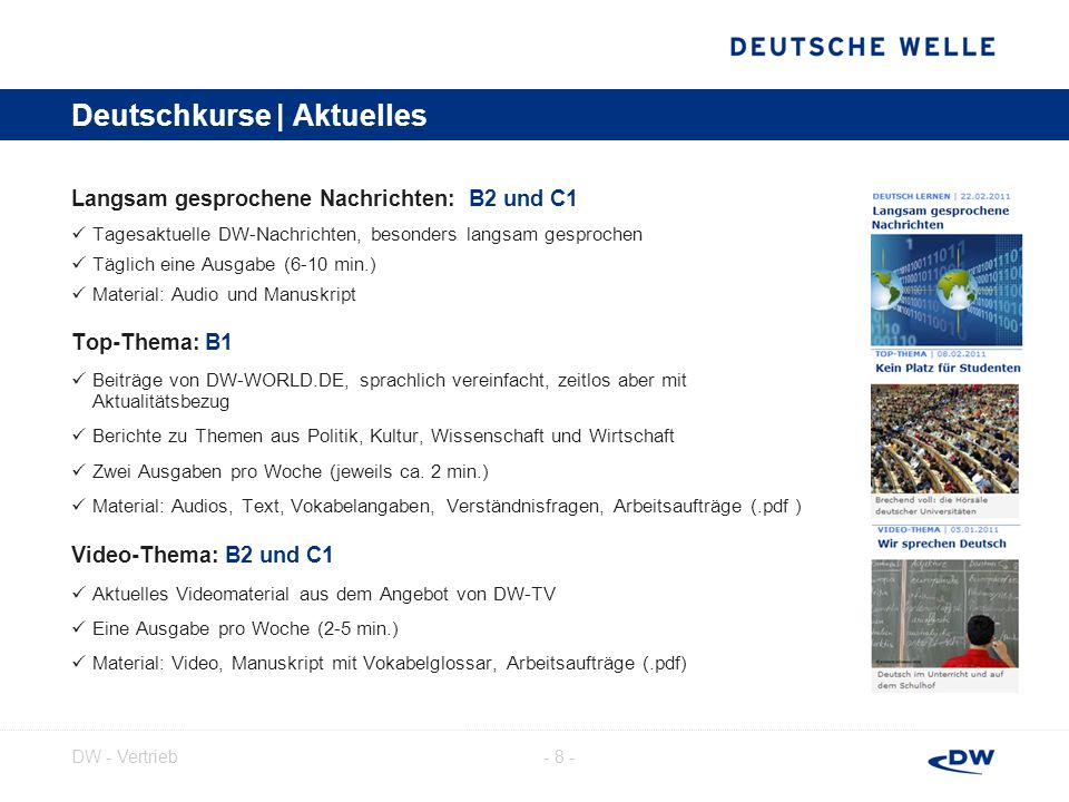 Deutschkurse | Aktuelles
