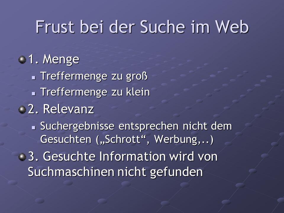 Frust bei der Suche im Web