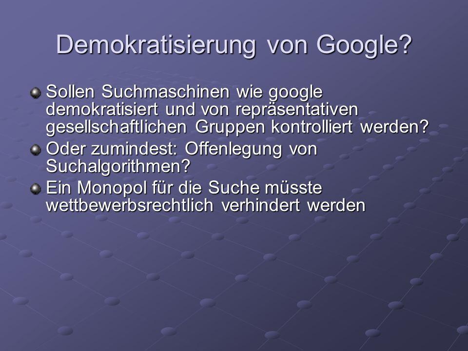 Demokratisierung von Google