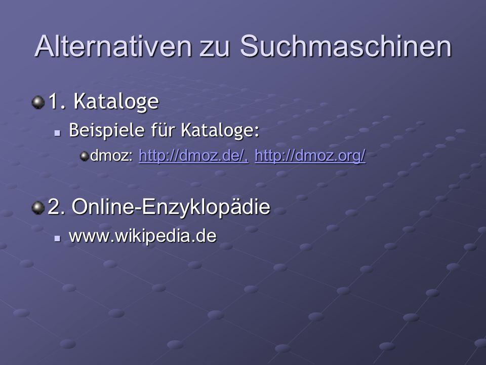 Alternativen zu Suchmaschinen