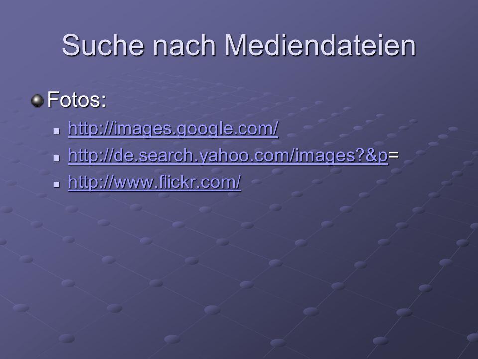 Suche nach Mediendateien