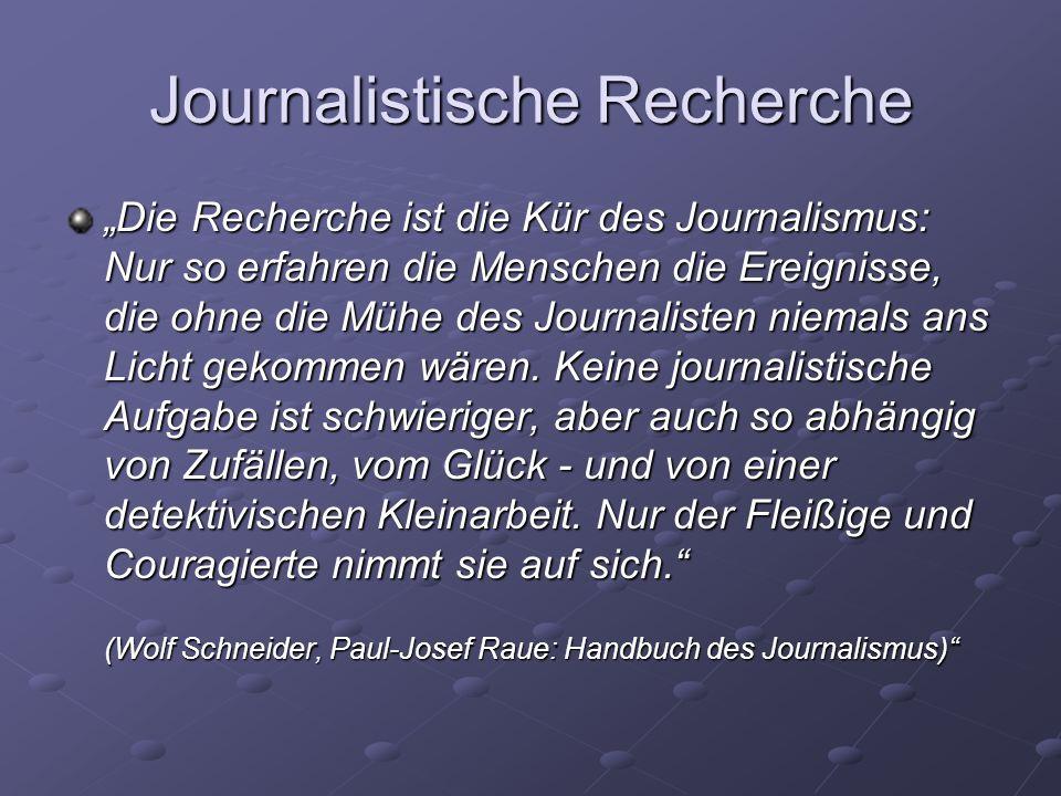 Journalistische Recherche