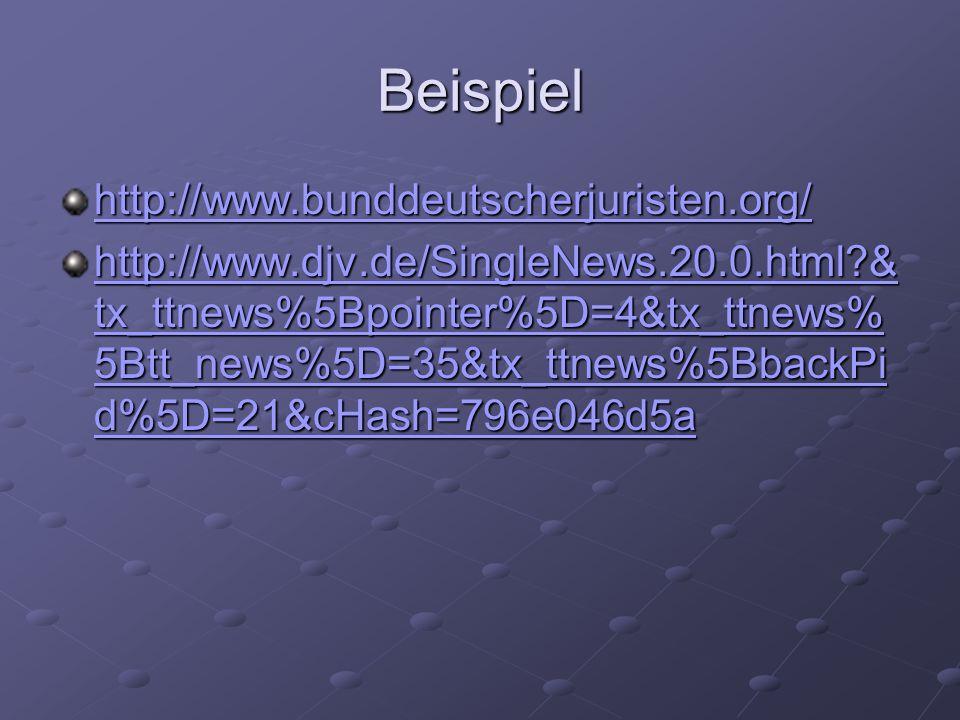 Beispiel http://www.bunddeutscherjuristen.org/
