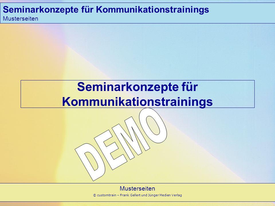 Seminarkonzepte für Kommunikationstrainings