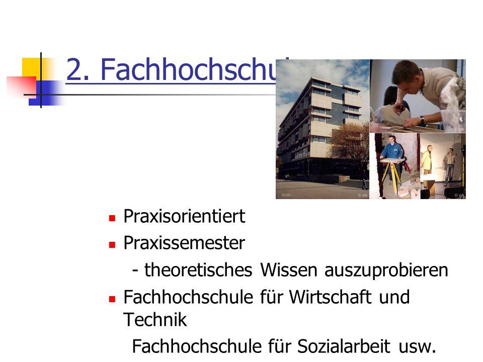 2. Fachhochschule Praxisorientiert Praxissemester