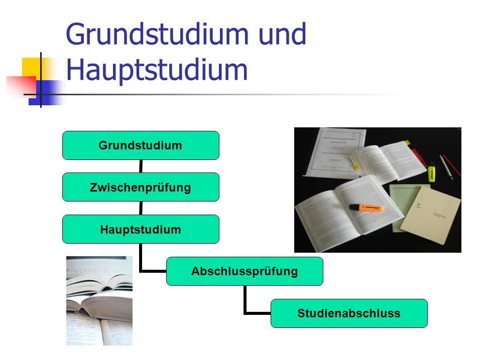 Grundstudium und Hauptstudium