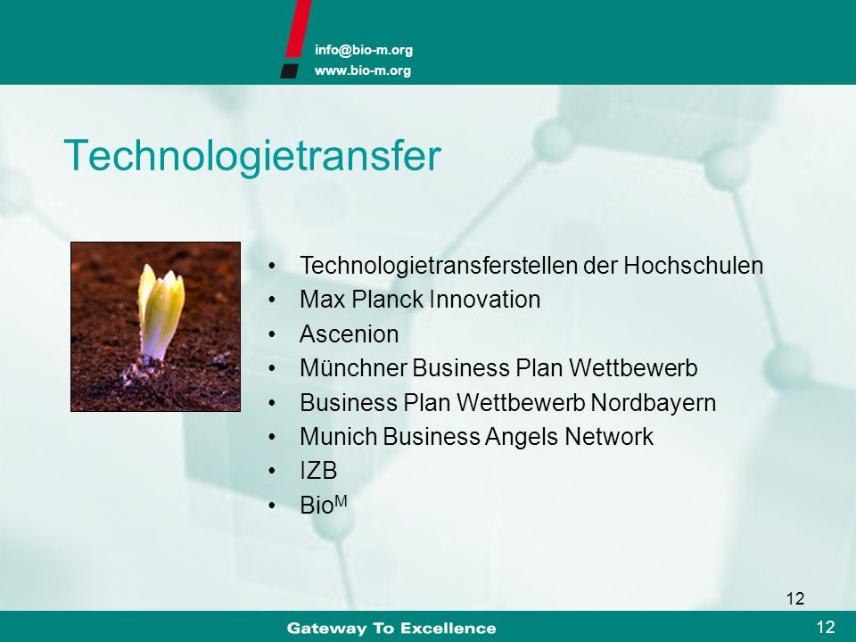 Technologietransfer Technologietransferstellen der Hochschulen