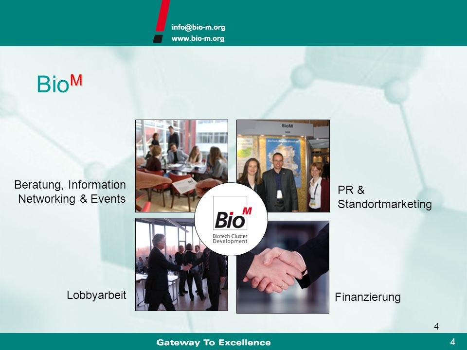 BioM Beratung, Information Networking & Events PR & Standortmarketing