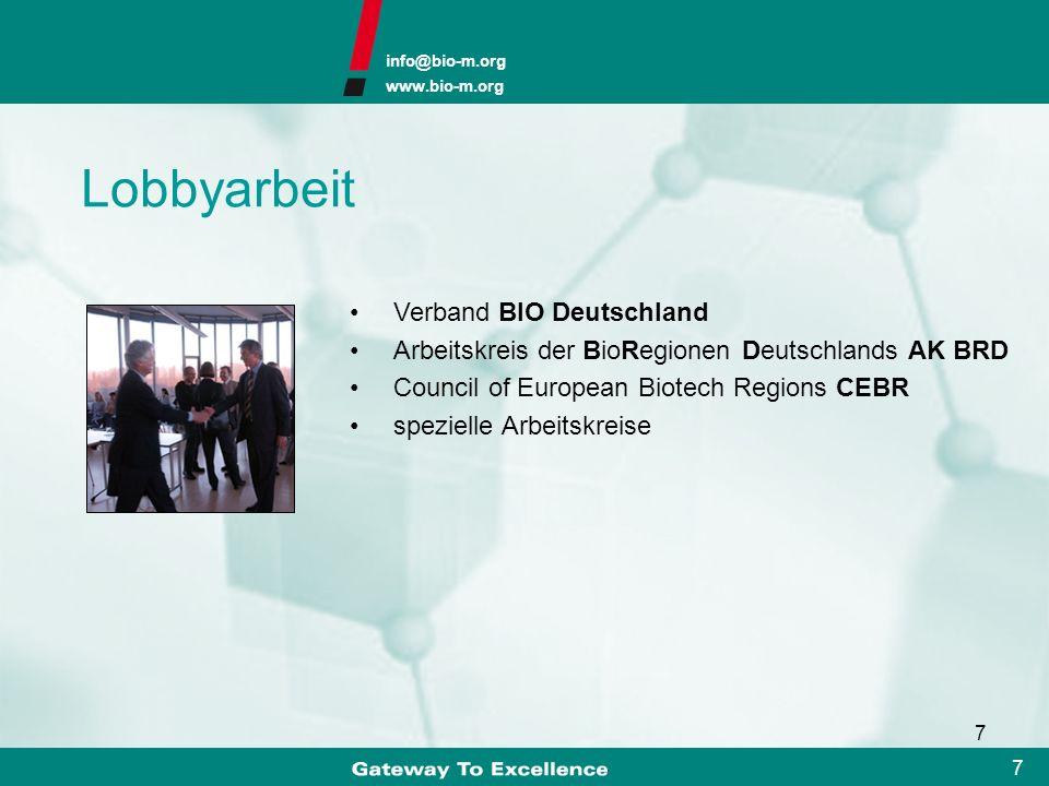 Lobbyarbeit Verband BIO Deutschland
