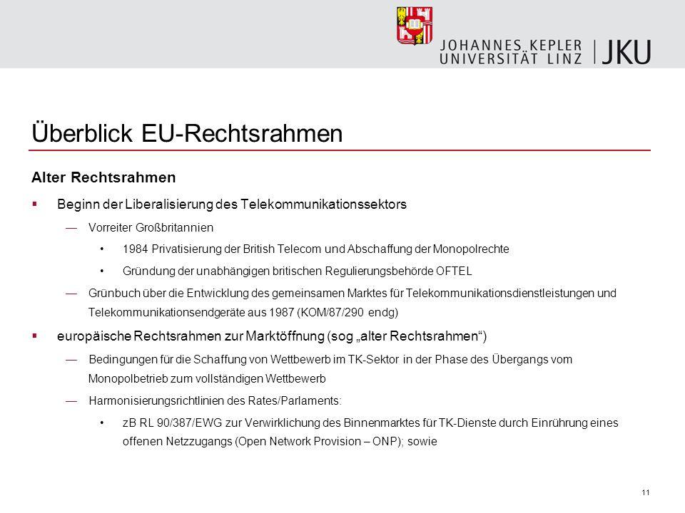 Überblick EU-Rechtsrahmen