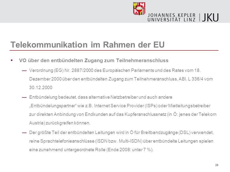 Telekommunikation im Rahmen der EU
