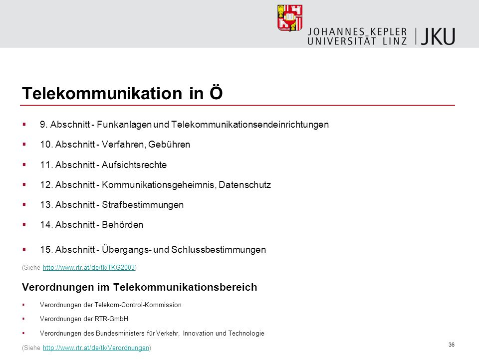 Telekommunikation in Ö