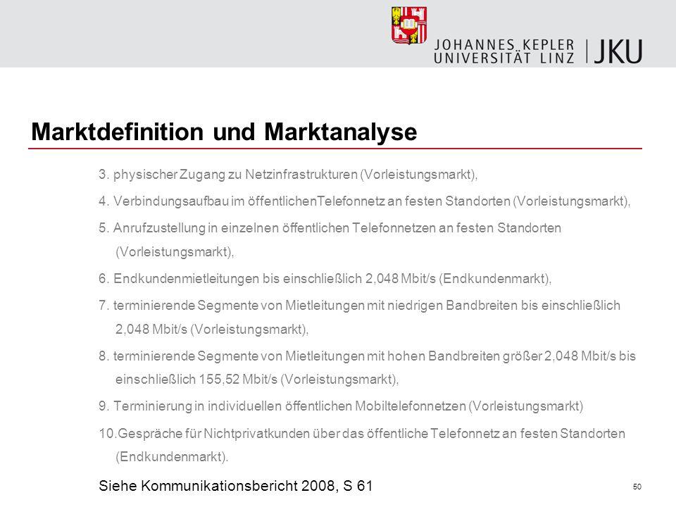 Marktdefinition und Marktanalyse