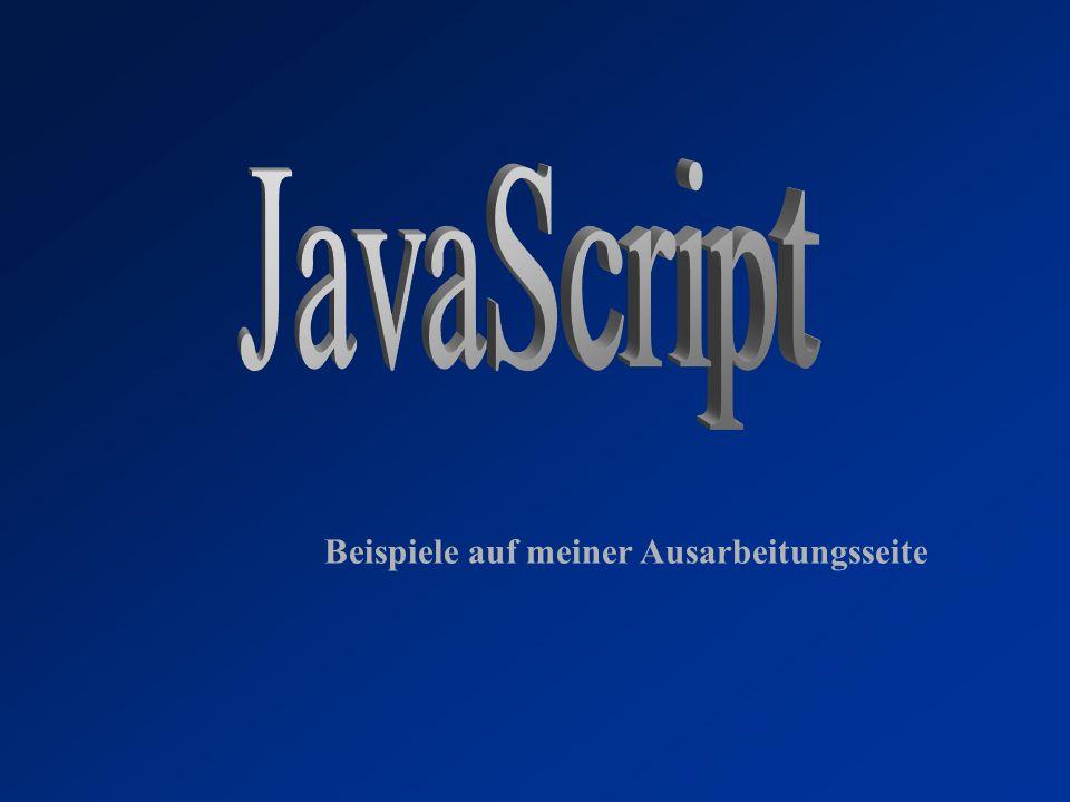 JavaScript Beispiele auf meiner Ausarbeitungsseite