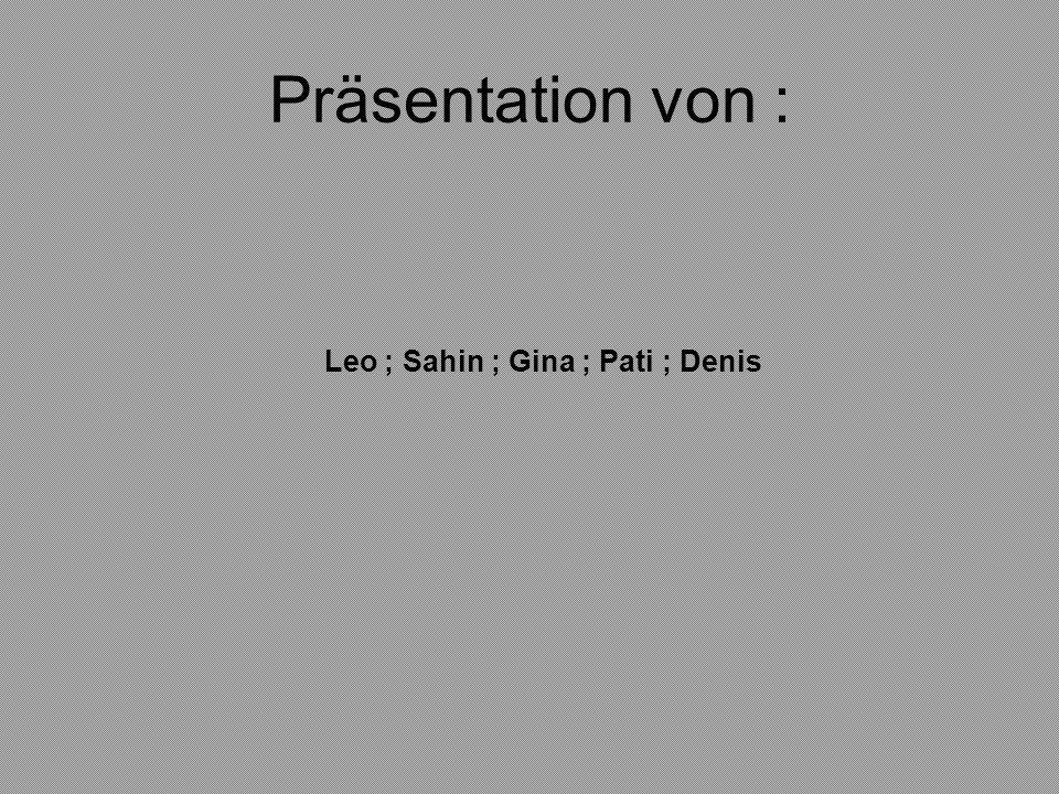 Leo ; Sahin ; Gina ; Pati ; Denis