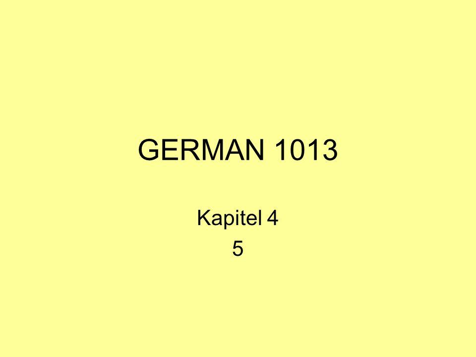 GERMAN 1013 Kapitel 4 5