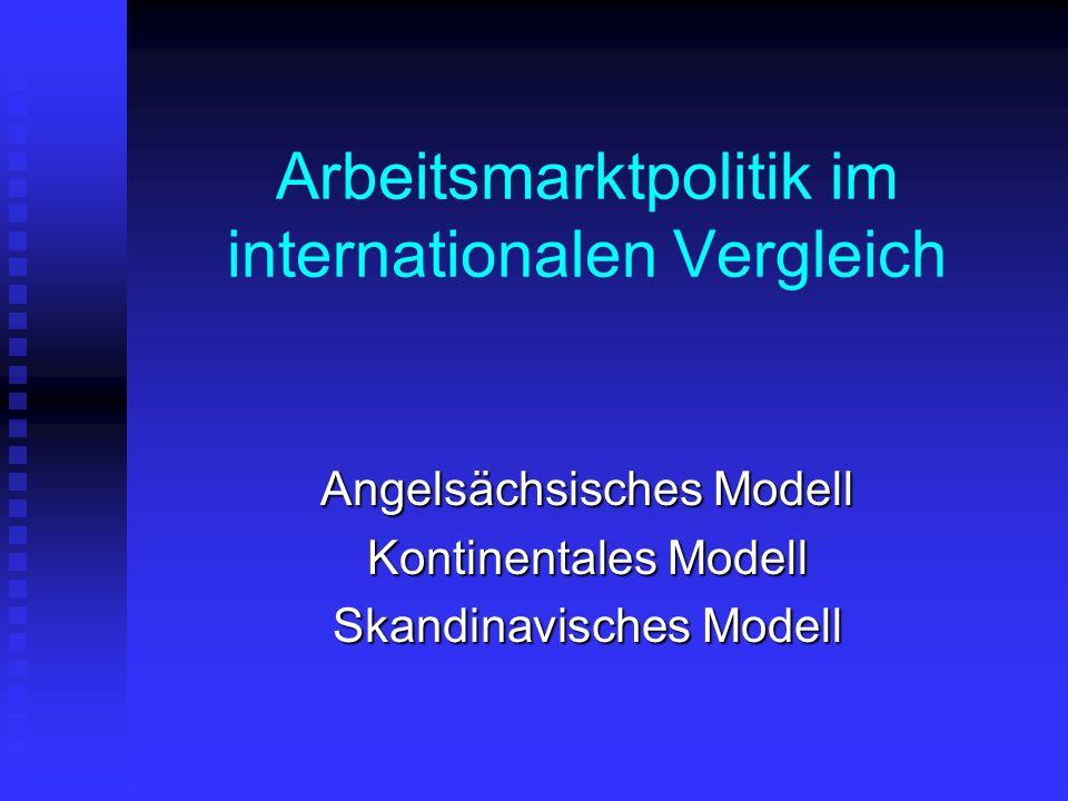 Arbeitsmarktpolitik im internationalen Vergleich