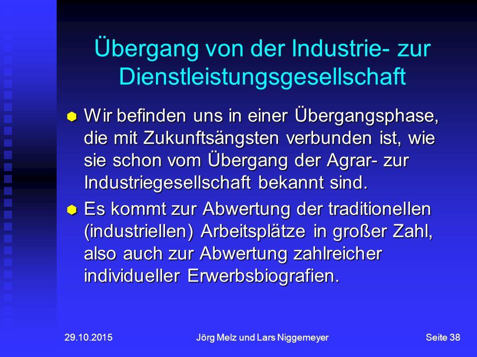 Übergang von der Industrie- zur Dienstleistungsgesellschaft