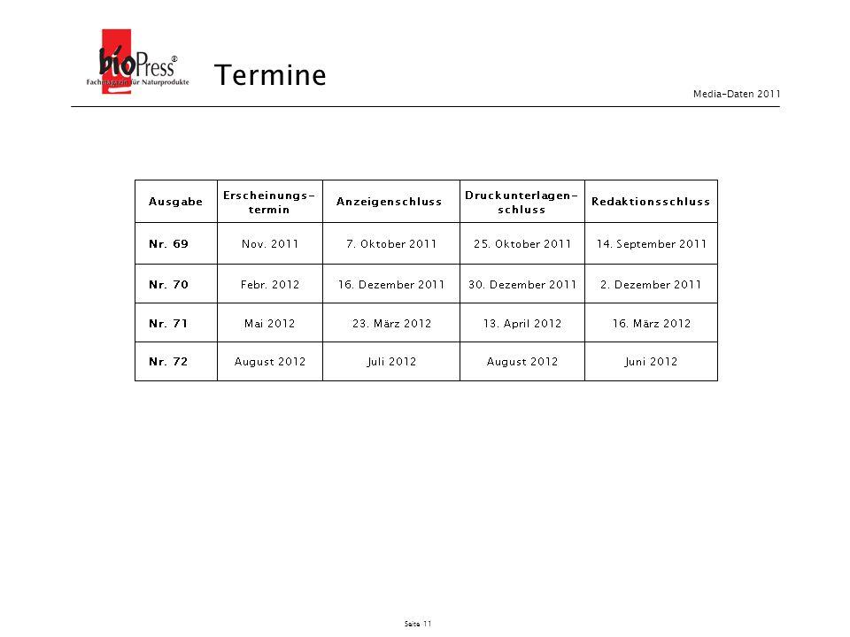 ® Termine Media-Daten 2011