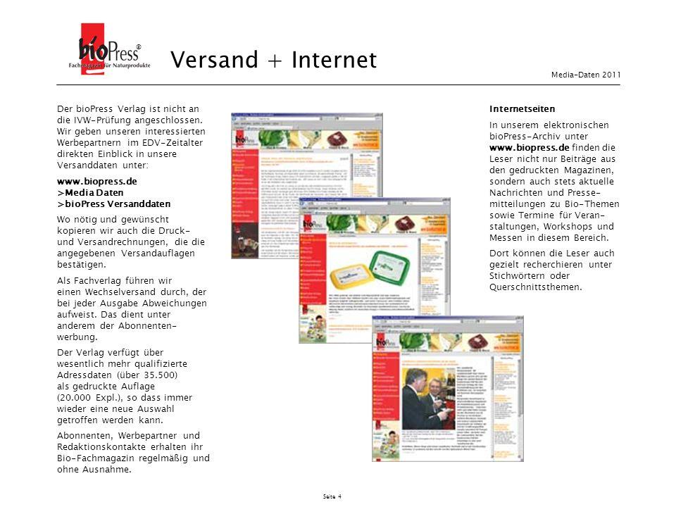 ® Versand + Internet. Media-Daten 2011.