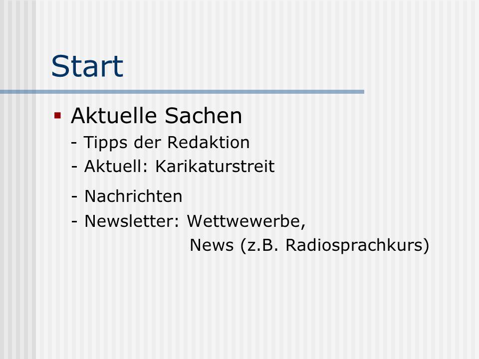 Start Aktuelle Sachen - Nachrichten - Tipps der Redaktion