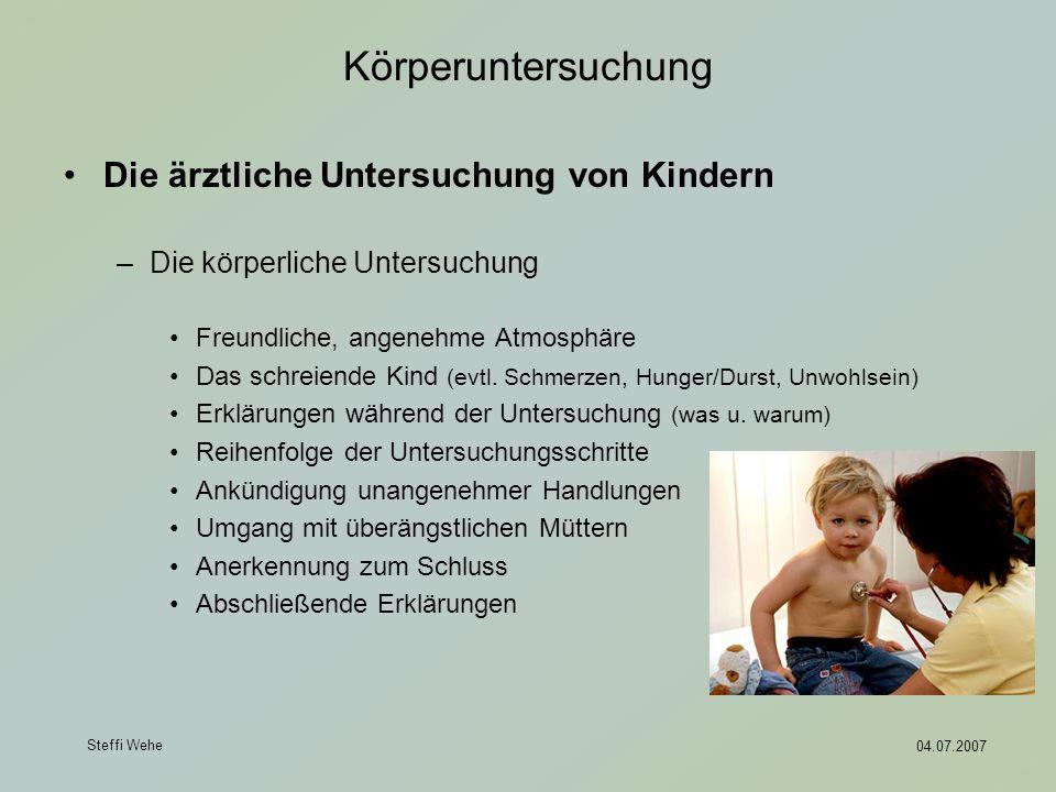 Körperuntersuchung Die ärztliche Untersuchung von Kindern