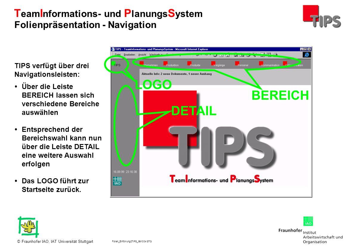 LOGO BEREICH DETAIL Folienpräsentation - Navigation