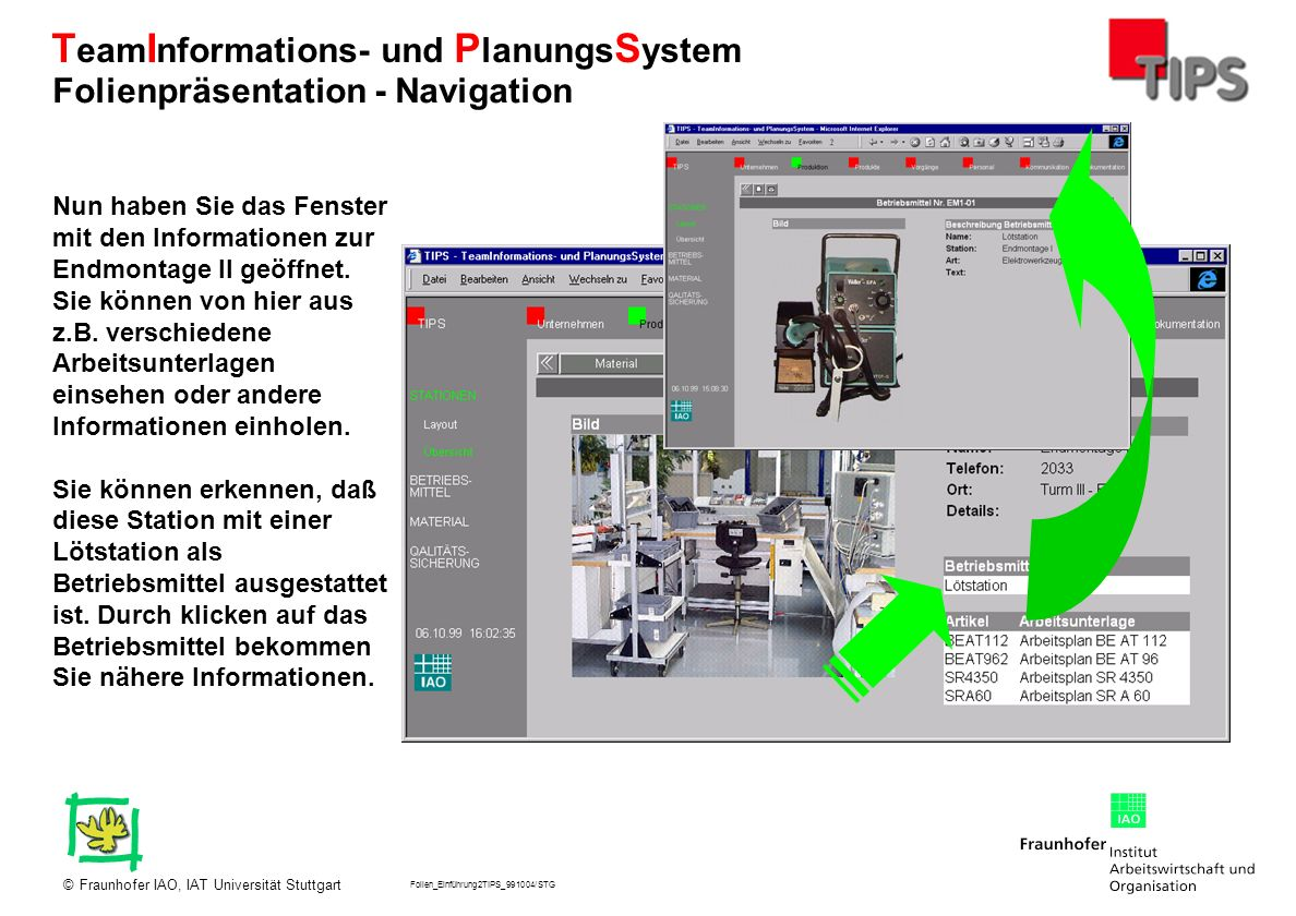 Folienpräsentation - Navigation