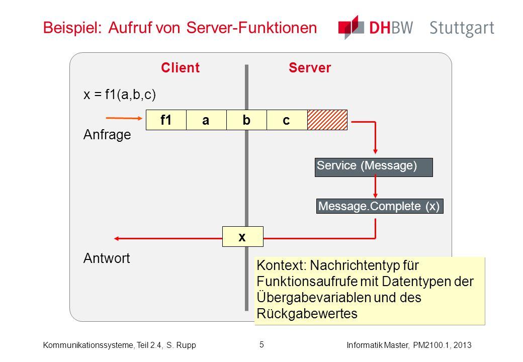 Beispiel: Aufruf von Server-Funktionen