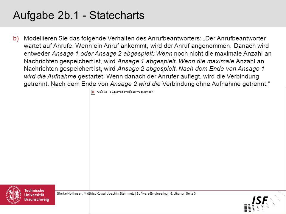 Aufgabe 2b.1 - Statecharts