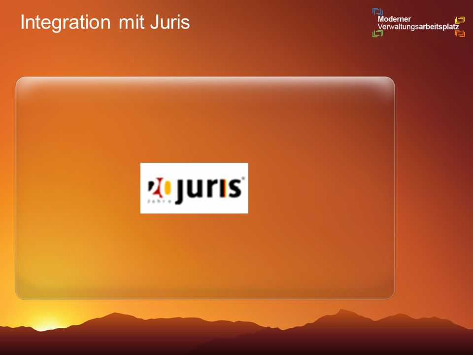 Integration mit Juris