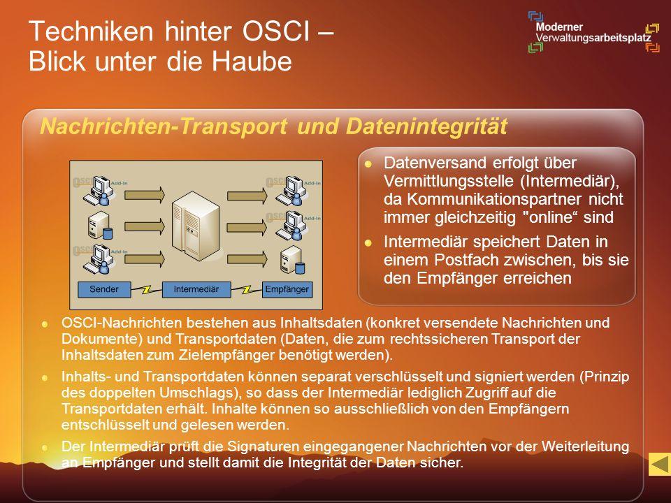 Techniken hinter OSCI – Blick unter die Haube