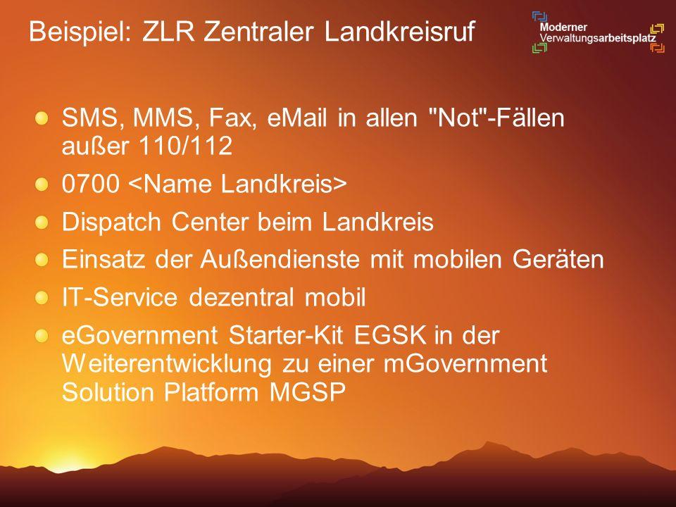 Beispiel: ZLR Zentraler Landkreisruf