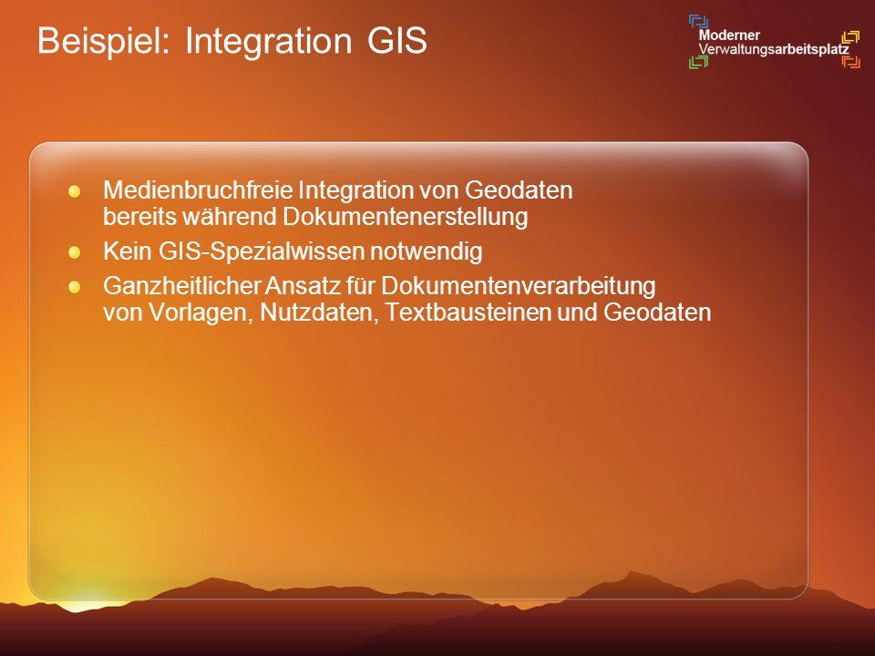 Beispiel: Integration GIS