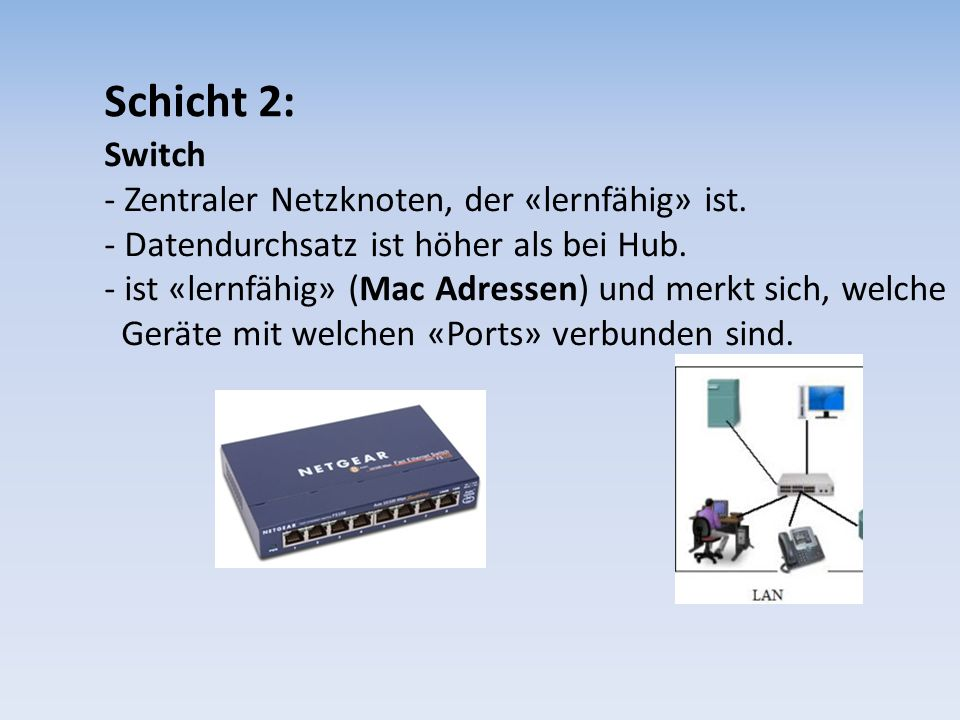 Schicht 2: Switch.