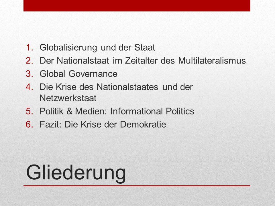 Gliederung Globalisierung und der Staat