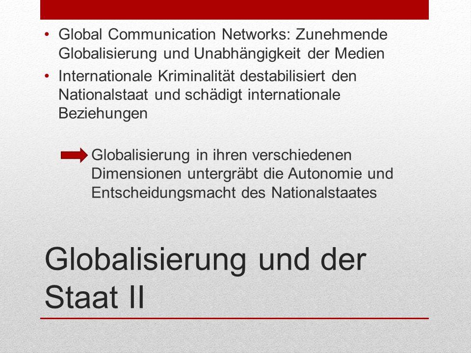 Globalisierung und der Staat II