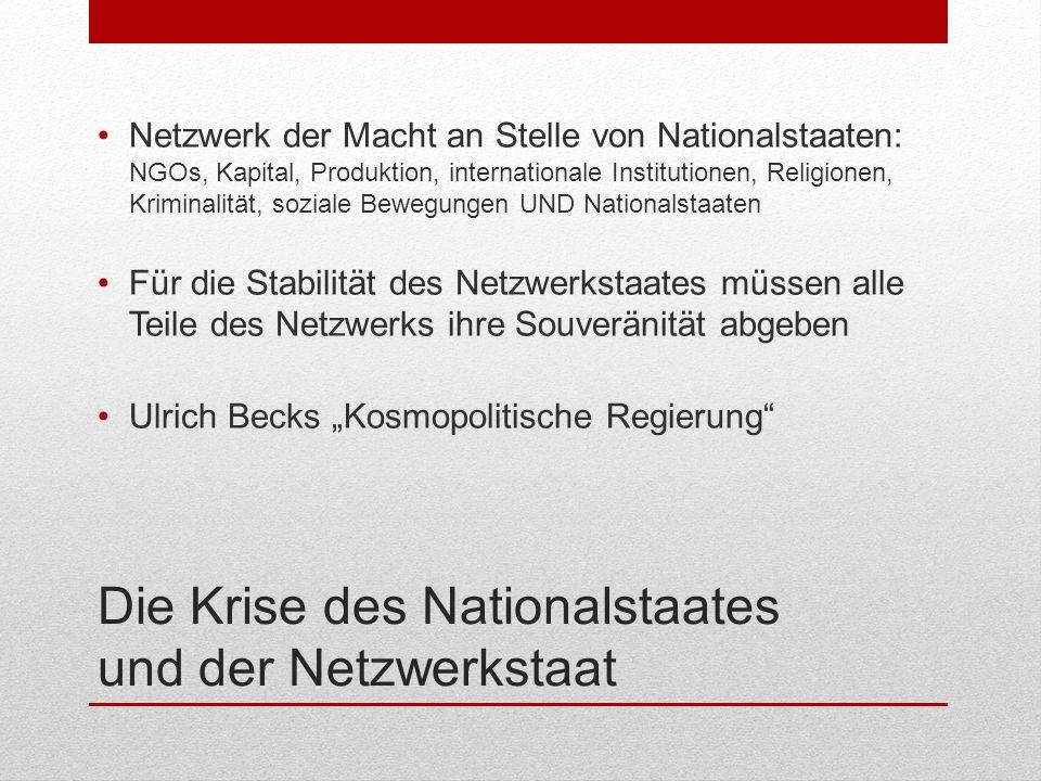 Die Krise des Nationalstaates und der Netzwerkstaat