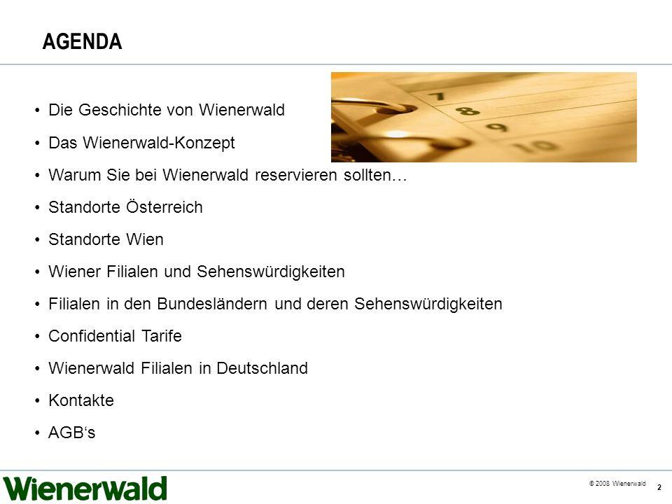 AGENDA Die Geschichte von Wienerwald Das Wienerwald-Konzept