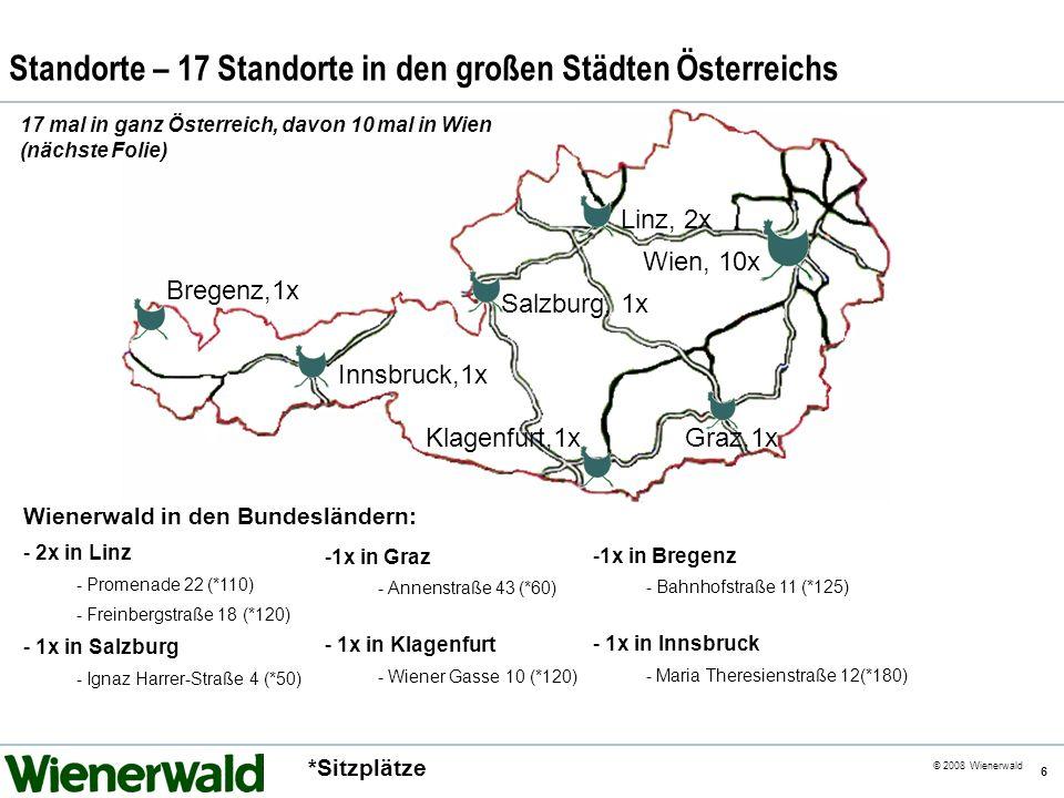 Standorte – 17 Standorte in den großen Städten Österreichs