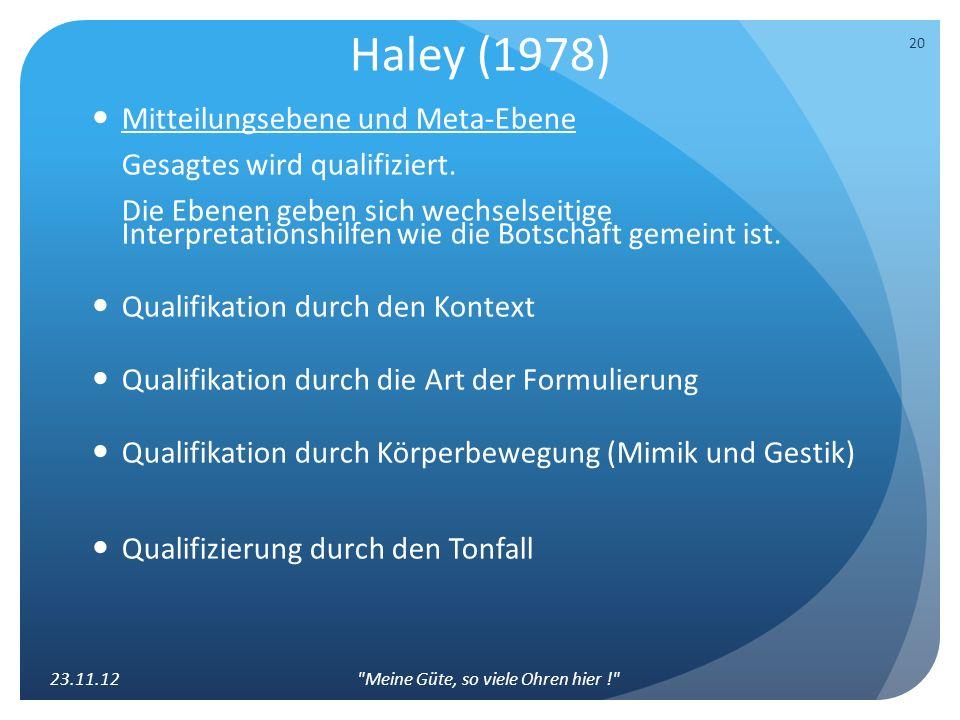 Haley (1978)