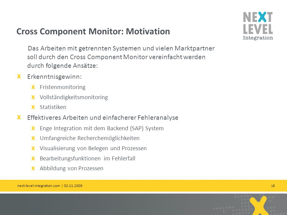 Cross Component Monitor: Motivation